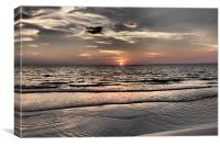 Sihanoukville, Cambodia, sunset, Canvas Print