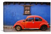 Beetle in Mexico, Canvas Print