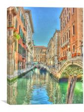 A Venitian Bridge, Canvas Print