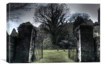 Cemetery Gates, Canvas Print