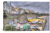 Tenby Boatyard, Canvas Print
