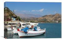 Agia Galini Harbour, Canvas Print