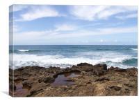 Rocky Coastline Hawaii North Shore, Canvas Print