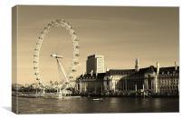 The London Eye Cityscape, Canvas Print