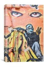 Graffiti Eyes, Canvas Print