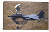 F15E Strike Eagle Low Level, Canvas Print