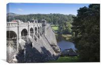 Vyrnwy Reservoir Dam, Wales, Canvas Print