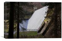 Overflowing Derwent Dam, Canvas Print