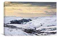 Winter at Axe Edge Moor, Canvas Print