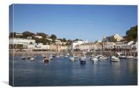 Tranquiliy, Torquay Harbour, Canvas Print