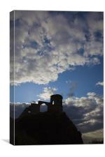 Mow Cop Castle Sunset, Canvas Print