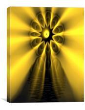 The Electric Yellow Vortex, Canvas Print