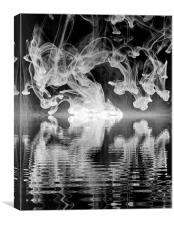 The Dancing Light Reflection, Canvas Print