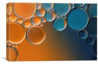 Oil Bubbles 2, Canvas Print
