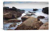 Auchmithie Beach, Canvas Print