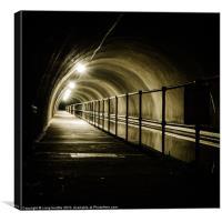 Dark Tunnel, Canvas Print