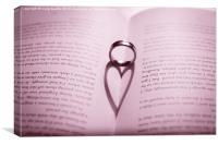 Ring Shadow Heart, Canvas Print