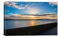 Tay Rail Bridge Sunset, Canvas Print
