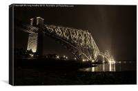 The Bridge That Everyone Knows B&W, Canvas Print