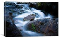 Glenshee Wet rocks, Canvas Print