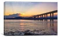 Dundee and Tay Bridge Sunset