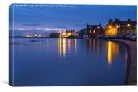 Calm Broughty Ferry waterfront at night, Canvas Print