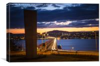 The Tay, The Bridge and Dundee, Canvas Print