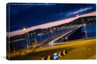 Dundee's magic roundabout (circle), Canvas Print