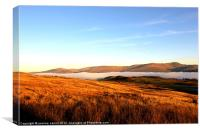 Mist over Loch Tay, Scotland, Canvas Print