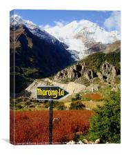 To the Thorong-La Pass, Nepal, Canvas Print