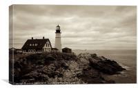 Portland lighthouse, Maine, Canvas Print