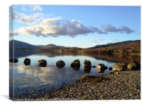 Stepping Stones, Loch Lomond, Canvas Print