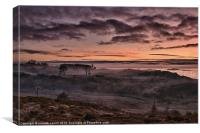 Scotch Mist Sunset, Canvas Print