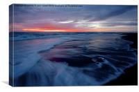 Iceberg beach at sunrise, Canvas Print