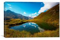 Mountain lake, Canvas Print