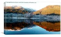 Reflections over Loch Lubnaig, Canvas Print