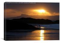 Moody sunset over Eigg, Canvas Print