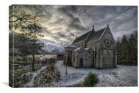 Church at Glenfinnan, Canvas Print