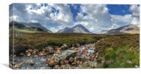 Glencoe mountains, Canvas Print
