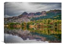 3 Lochs cycle, Achray Forest, Aberfoyle, Canvas Print