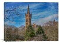 University of Glasgow from Kelvingrove Park, Canvas Print