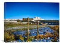 West Highland Way viewing to Glengoyne Distillery , Canvas Print