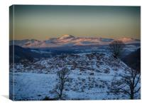 Alpine sunset over Ben Lomond and surrounds, Canvas Print