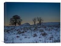 Campsies and Dumgoyne hill, Canvas Print