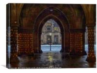The Cloisters, Glasgow University HDR colour , Canvas Print