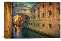 Evening Sun on the canal, Canvas Print