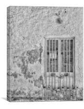 The Water Bottle Old Door, Canvas Print