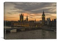 Sunset over Parliament, Canvas Print