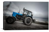 Flyng Tractor, Canvas Print