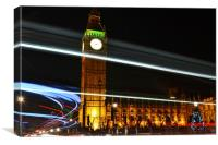Westminster Lights, Canvas Print